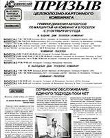 Призыв (газета СЦКК) №41, 2013  «Сервисное обслуживание. Единого подхода пока нет»